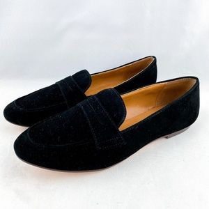 J. Crew Suede Black Penny Career Loafers Shoes